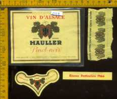 Etichetta Vino Liquore Pinot Noir Hauller 1966 - Francia - Etichette