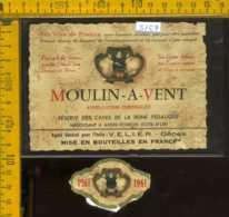Etichetta Vino Liquore Moulin-a-Vent 1961 - Francia - Etichette
