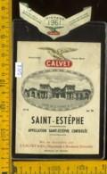 Etichetta Vino Liquore Saint-Estèphe 1961 J. Calvet - Francia - Etichette