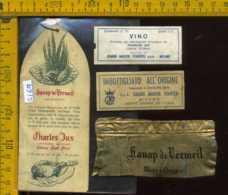 Etichetta Vino Liquore Vin D'Alsace Charles Jux - Francia - Etichette