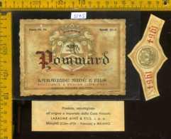 Etichetta Vino Liquore Pommard 1964 Labaume Aine - Francia - Etichette