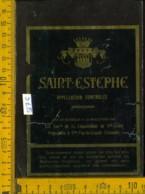 Etichetta Vino Liquore Saint-Estephe - Gironde Francia (forte Difetto) - Etichette