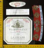 Etichetta Vino Liquore Florissant 1966 De Luze - Francia - Etichette