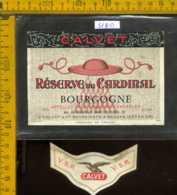 Etichetta Vino Liquore Rèserve Du Cardinal Bourgogne - Francia - Etichette