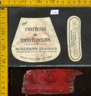 Etichetta Vino Liquore Chateau De Montmelas 1967 - Francia - Etichette