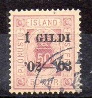 Sello De Islandia Servicio N ºYvert 16B (o)  Valor Catálogo 45.0€ - Oficiales