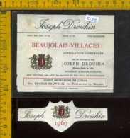 Etichetta Vino Liquore Joseph Drouhin 1967 - Francia - Etichette