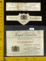 Etichetta Vino Liquore Pommard Joseph Drouhin 1965 - Francia - Etichette