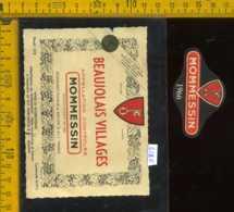 Etichetta Vino Liquore Mommesin 1966 Beaujolais Villages - Francia - Etichette