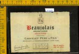 Etichetta Vino Liquore Grivelet Père Beaujolais 1959 - Francia - Etichette