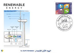 DZ Algeria 1727/8 FDC Energie Rinnovabili Energia Eolica Vento - Altri