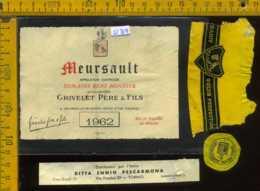 Etichetta Vino Liquore Grivelet Père Meursault 1962 - Francia - Etichette