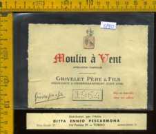 Etichetta Vino Liquore Grivelet Père Moulin à Vent 1964 - Francia - Etichette