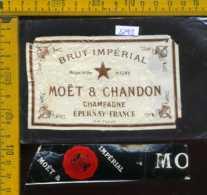 Etichetta Vino Liquore Brut Impèrial-Moet & Chandon - Francia (difetto) - Etichette