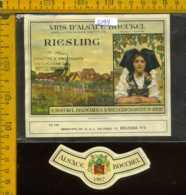 Etichetta Vino Liquore Vin D'Alsace Riesling 1967 - Francia - Etichette