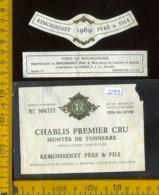 Etichetta Vino Liquore Chablis Premier Cru 1969 - Francia (difetto) - Etichette