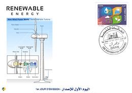 DZ Algeria 1727/8 FDC Renewable Energies Wind Power Wind - Sciences