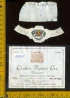 Etichetta Vino Liquore Chablis Premier Cru 1989 Vaulignot - Francia - Etichette