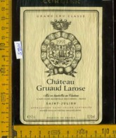 Etichetta Vino Liquore Chateau Gruaud Larose 1991 Grand Cru - Francia - Etichette
