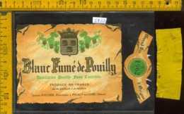 Etichetta Vino Liquore Blanc Fumè De Pouilly 1962 - Francia - Etichette
