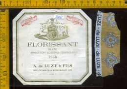Etichetta Vino Liquore Blanc Florissant 1966 - Francia - Etichette