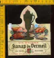 Etichetta Vino Liquore Vin D'Alsace Hanap De Vermeil - Francia - Etichette