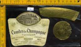 Etichetta Vino Liquore Comtes De Champagne 1964 Taittinger - Francia - Etichette