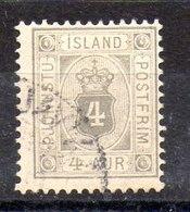 Sello De Islandia Servicio N ºYvert 4B (o)  Valor Catálogo 35.0€ - Oficiales