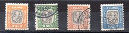 Sello De Suecia Servicio N ºYvert 24/25/26/27 (o)  Valor Catálogo 20.25€ - Oficiales