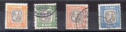 Sello De Islandia Servicio N ºYvert 24/25/26/27 (o)  Valor Catálogo 20.25€ - Oficiales