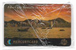 UK (Mercury) - Fibre Optic To Hong Kong 1991 - 20MERB - MER197 - 4.218ex, NSB - Reino Unido