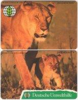 GERMANY O-Serie B-071 - Animal, Cat, Lion - 2 Pieces - MINT - Deutschland