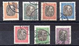 Serie De Islandia Servicio N ºYvert 17/23 (o)  Valor Catálogo 37.5€ - Oficiales
