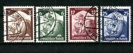 Deutsches Reich, MiNr. 565-568, Gestempelt - Deutschland