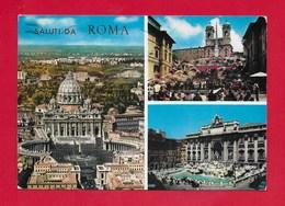 CARTOLINA VG ITALIA - Saluti Da ROMA - Vedutine Multivue - 10 X 15 - ANN. 1965 - Saluti Da.../ Gruss Aus...