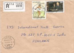 Togo 1988 Kara G3 Konrad Adenauer Bundestag Disc Seoul Registered Cover - Togo (1960-...)