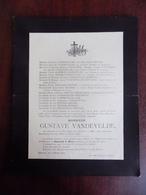 Faire Part De Décès Mr Gustave Vandevelde - Renaix 1904 - Décès
