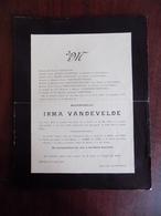 Faire Part De Décès Mlle Irma Vandevelde - Renaix 1904 - Décès