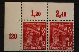 Deutsches Reich, MiNr. 599, Waag. Paar, Ecke Li. Oben, Ungebraucht / Unused - Allemagne