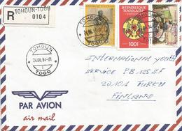Togo 1994 Tohoun 1 Akan Chief Industry Official Registered Cover - Togo (1960-...)