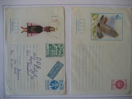 Bulgarien- 2 Ganzsache Kuvert Ungelaufen Und Flugpost In Die DDR - Sobres