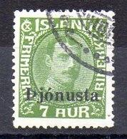 Sello De Islandia Servicio N ºYvert 60 (o)  Valor Catálogo 25.0€ - Oficiales