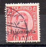 Sello De Islandia Servicio N ºYvert 61 O - Dienstpost