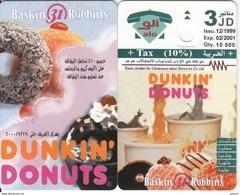 JORDAN - Dunkin Donuts, Tirage 10000, 12/99, Dummy Telecard(no Chip, No CN) - Advertising