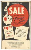 ESTADOS UNIDOS USA ENTERO POSTAL 1953 WEINERS SHOE SHOP ZAPATO  CERDO PIG AHORRO - Otros