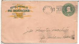 ESTADOS UNIDOS USA ENTERO POSTAL 1907 PIG IRON AND COKE MINERAL MINNING - Minerales