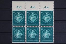 Deutsches Reich, MiNr. 896 PLF I, 6er Block, Oberrand, Postfrisch / MNH - Abarten