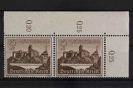 Deutsches Reich, MiNr. 730, Waag. Paar, Ecke Re. Oben, Postfrisch / MNH - Allemagne