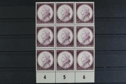 Deutsches Reich, MiNr. 810, PLF III, 9er Bl., Unterrand, Postfrisch / MNH - Abarten