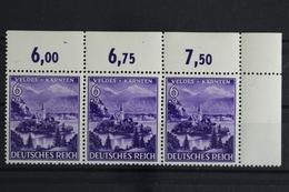 Deutsches Reich, MiNr. 807, 3er Streifen, Ecke Re. Oben, Postfrisch / MNH - Allemagne